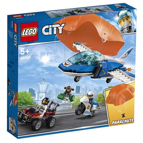 Stavebnice LEGO City Zatčení zloděje s padákem, 218 dílků