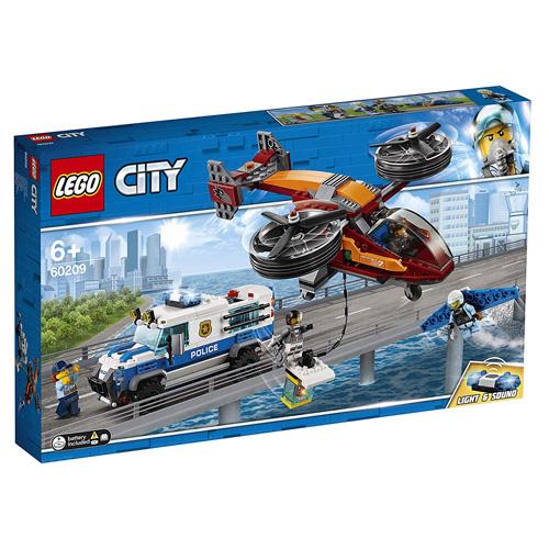 Stavebnice LEGO City Letecká policie a loupež diamantu, 400 dílků