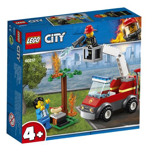 Stavebnice LEGO City Grilování a požár, 64 dílků