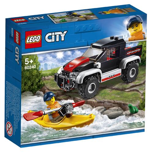 Stavebnice LEGO City Dobrodružství na kajaku, 84 dílků