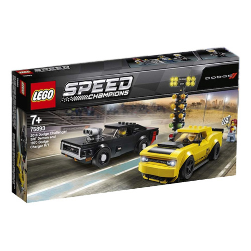 Stavebnice LEGO Speed Champions 2018 Dodge Challenger SRT Demon a 1970 Dodge Charger R/T, 47