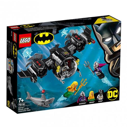 Stavebnice LEGO DC Super Heroes Batmanova ponorka a střetnutí pod vodou, 174 dílků