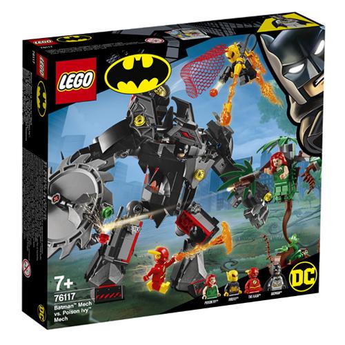 Stavebnice LEGO DC Super Heroes Souboj robotů Batmana a Poison Ivy, 375 dílků