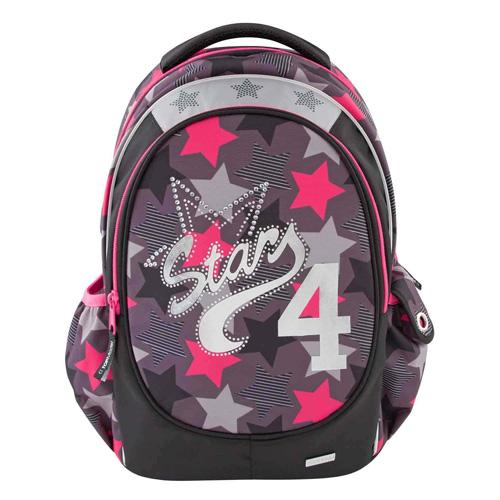 Školní batoh Top Model Star 4, šedo-růžový
