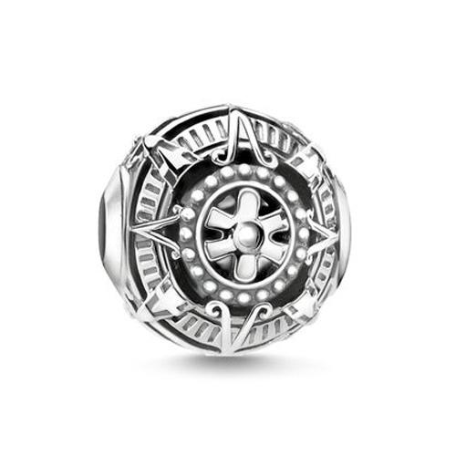 """Korálek """"Mayský kalendář"""" Thomas Sabo K0322-637-21, Karma Beads, 925 Sterling silver, blackened"""