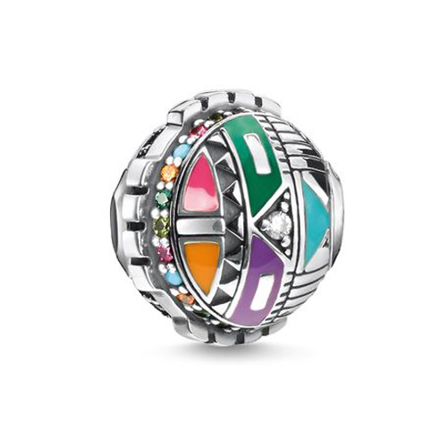 "Korálek ""Symbol slunce"" Thomas Sabo K0313-340-7, Karma Beads, 925 Sterling silver, blackened, co"