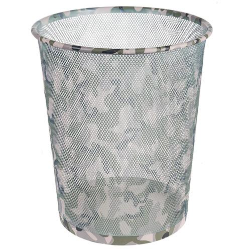 Odpadkový koš Idena Maskáčový vzor, kovový, 36 cm