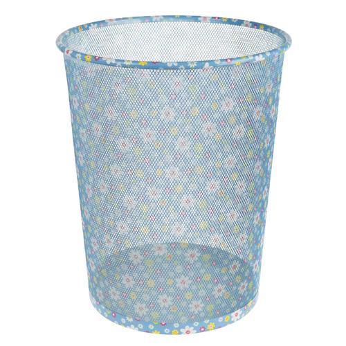 Odpadkový koš Idena Květinový vzor, kovový, 36 cm