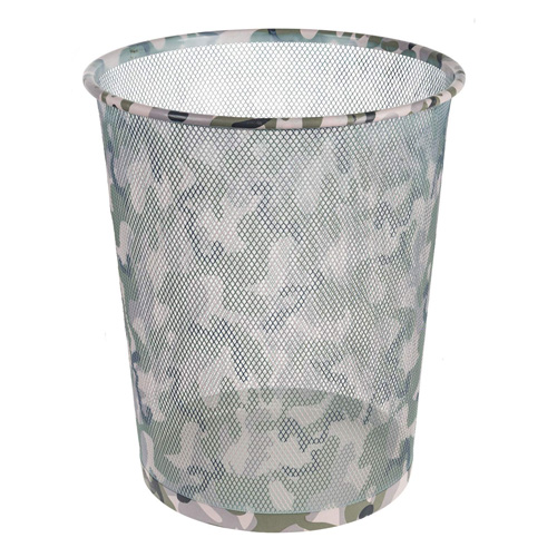 Odpadkový koš Idena Maskáčový vzor, kovový, 30 cm