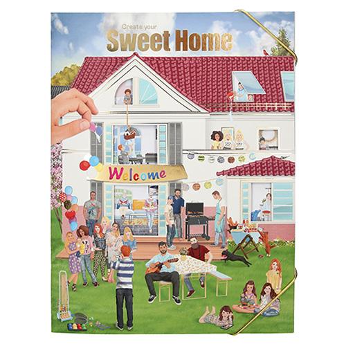 Kreativní sešit Create Your Sweet Home, bílý domek