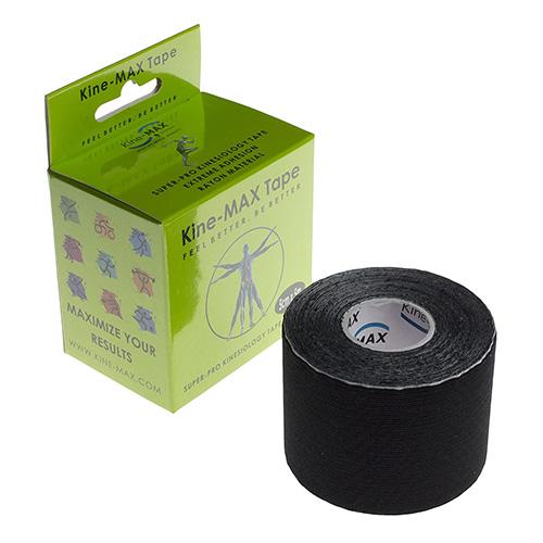 Kinemax Kinesiologický tejp Kine-MAX Super-Pro rayon | Černá | 5 cm x 5 m