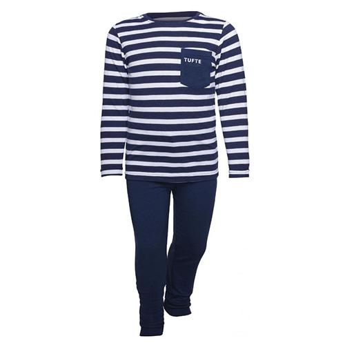 Dětské pyžamo Tufte Bamboo Rayon | námořní modré | 134-140