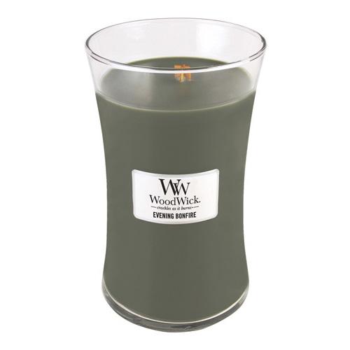 Svíčka oválná váza WoodWick Večer u táboráku, 609.5 g