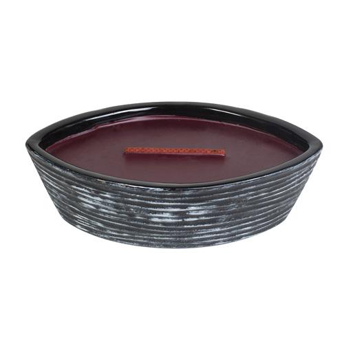 Svíčka keramická dekorativní váza WoodWick Černá třešeň, 368.5 g