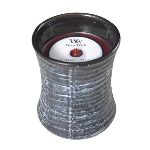 Svíčka keramická oválná váza WoodWick Černá třešeň, 133.2 g