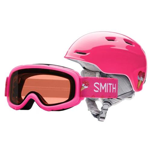 ZOOM JR/GAMBLER Smith | dětské | helma + brýle | Pink Sugarcone | 5358