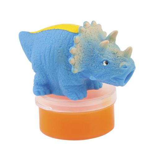 Figurka se slizem Dino World ASST Triceratops, oranžový sliz