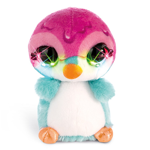Plyšový tučňák Nici Deezy, s LED diodami, 12 cm