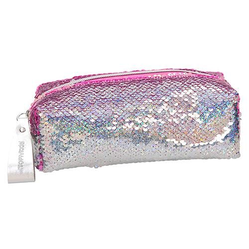 Kosmetická taška Top Model Duhově stříbrná s měnícími flitry