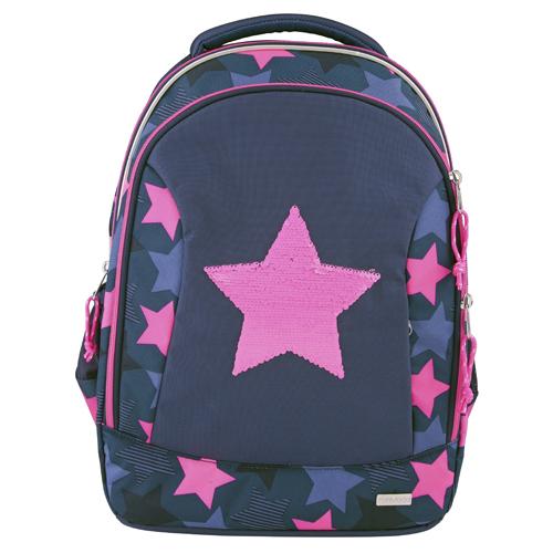 Školní batoh Top Model Hvězda, měnící flitrový obrázek, modro-růžový