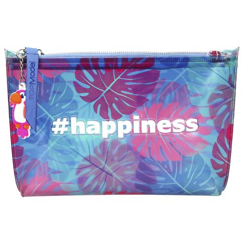 Kosmetická taška Top Model Tropical, modro-růžová