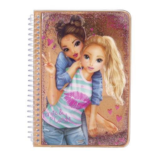 Zápisník Top Model ASST Fergie a Candy, zlatý