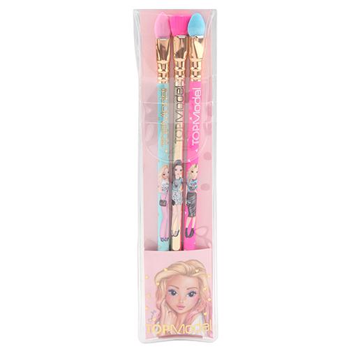 Sada tužek Top Model Candy, s gumou ve tvaru štětců, 3 ks