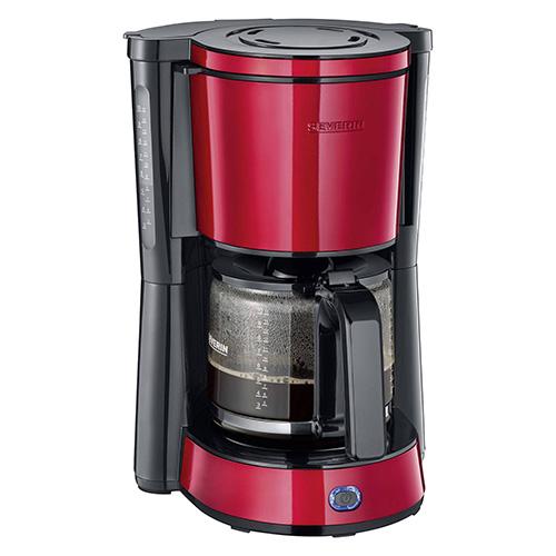 Severin KA 4817 kávovar nerez červený 1000W