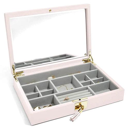 Stackers Šperkovnice Stacker Světle růžová/béžová | Jewellery Box Lid Leather