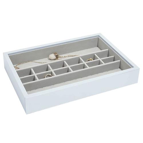 Stackers Patro šperkovnice Stacker Světle modrá/béžová | Jewellery Box Layers Leather