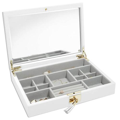 Stackers Šperkovnice Stacker Bílá/béžová | Jewellery Box Lid Leather