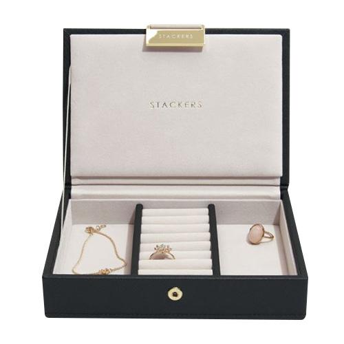 Šperkovnice Stackers Černá/béžová | Jewellery Box Lid Mini