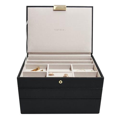 Stackers Šperkovnice Stacker Černá/béžová | Jewellery Box Set Classic
