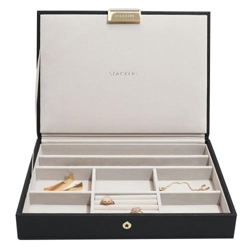 Stackers Šperkovnice Stacker Černá/béžová | Jewellery Box Lid Classic