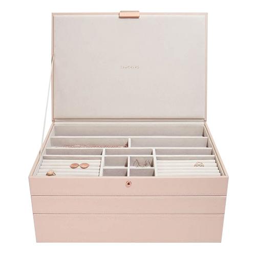 Stackers Šperkovnice Stacker Světle růžová/béžová | Jewellery Box Set Supersize