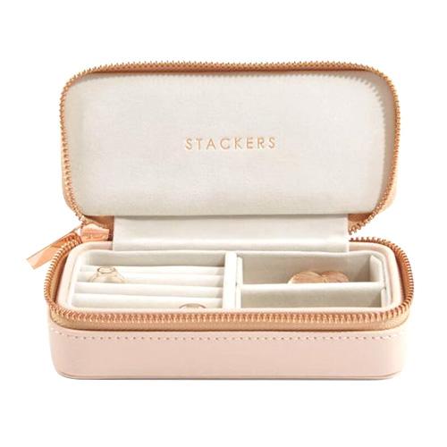 Cestovní puzdro na šperky Stackers Světle růžové, Travel Jewellery Box Medium