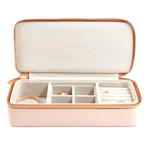 Cestovní puzdro na šperky Stackers Světle růžové, Travel Jewellery Box Large
