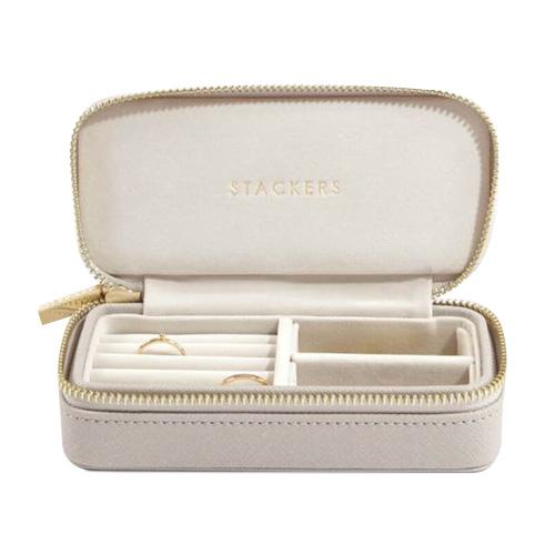 Cestovní puzdro na šperky Stackers Světle šedé, Travel Jewellery Box Medium