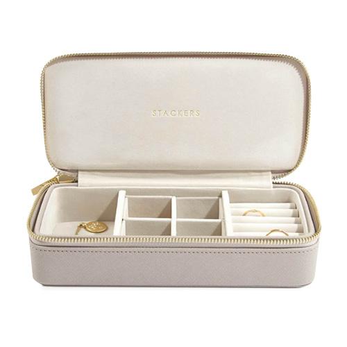 Cestovní puzdro na šperky Stackers Světle šedé, Travel Jewellery Box Large
