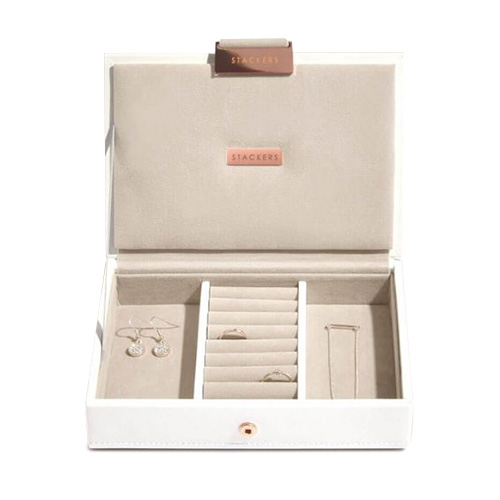 Stackers 73542 LIMITED EDITION WHITE | MINI LIDDED STACKER ROSE GOLD