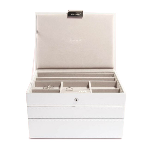 70796 WHITE CLASSIC SET OF 3 | STACKERS