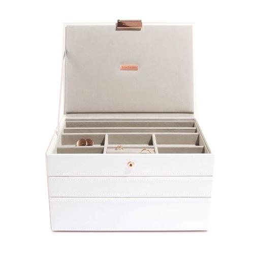 Stackers Šperkovnice Stacker Limitovaná edice, bílá/béžová | Jewellery Box Set Classic