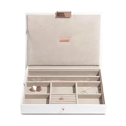 Stackers Šperkovnice Stacker Limitovaná edice, bílá/béžová | Jewellery Box Lid Classic