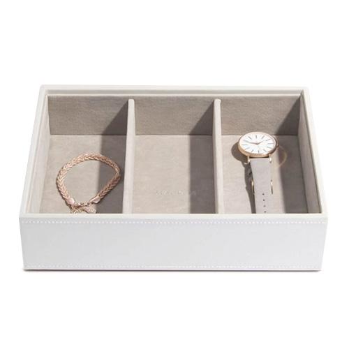 Stackers Patro šperkovnice Stacker Bílá/béžová | Jewellery Box Layers Classic