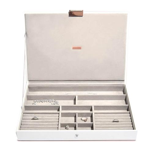 Stackers Šperkovnice Stacker Limitovaná edice, bílá/béžová | Jewellery Box Lid Supersize