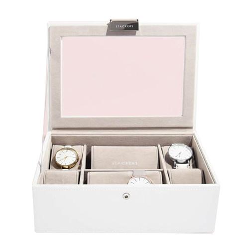 Stackers Pouzdro na hodinky Stacker Bílá/béžová | Watch Case Classic