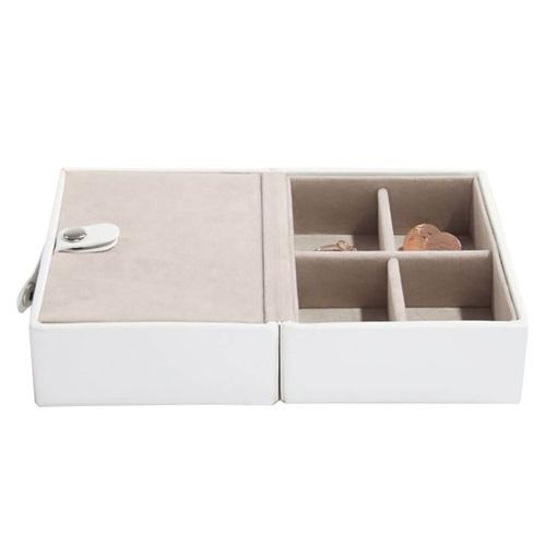 Cestovní šperkovnice Stackers Bílá/béžová, Travel Jewellery Box