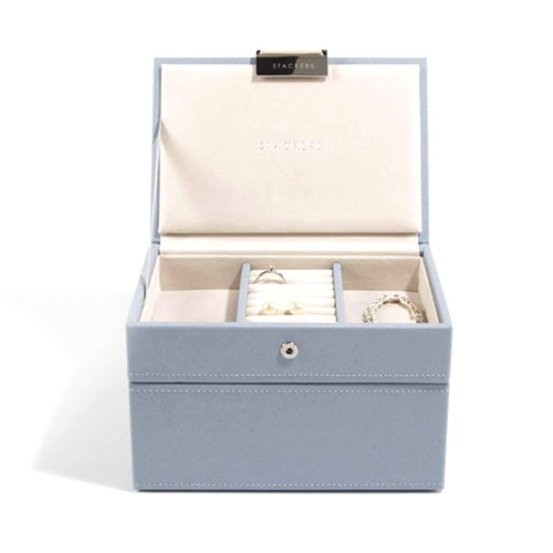 Stackers Šperkovnice Stacker Světle modrá/béžová | Jewellery Box Set Mini