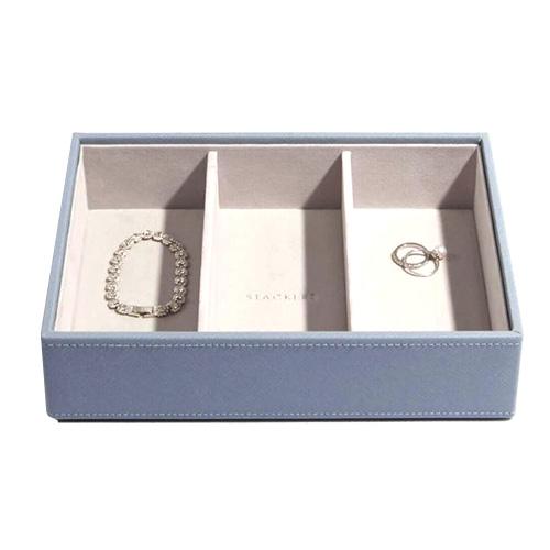 Stackers Patro šperkovnice Stacker Světle modrá/béžová | Jewellery Box Layers Classic