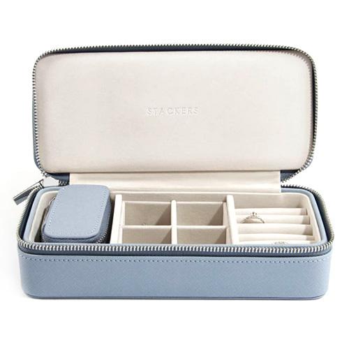 Cestovní puzdro na šperky Stackers Světle modré, Travel Jewellery Box Large
